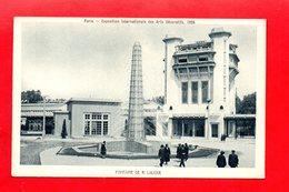 Paris : Exposition Des Arts Décoratifs En 1925 . Fontaine René Lalique, Cpa Animée - Expositions