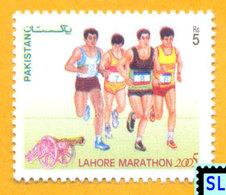 Pakistan Stamps 2005, Lahore Marathon, Sports, Running, MNH - Pakistan