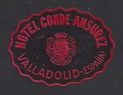 étiquette Valise  -  Hôtel Conde Ansurez    à  Valladolid      Espagne - Hotel Labels
