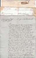 An 2 & 6 - 3 Lettres Adressées Au Citoyen LAVERNHE Fils, Négociant à La Capelle à CAHORS - Par Toulouse & Figeac - Historical Documents