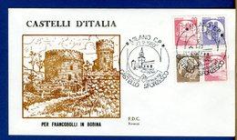 ITALIA - FDC - 1980 - CASTELLO SFORZESCO - CASTELLI D'ITALIA - MACCHINETTE - SUPER LUSSO - 6. 1946-.. Repubblica