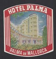 étiquette Valise  -  Hôtel Palma à Palma De Mallorca  (Palma De Majorque)    Espagne - Hotel Labels