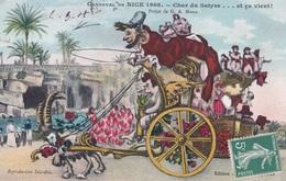 CARNAVAL DE NICE 1908 CHAR DU SATYRE PROJET DE G.A. MOSSA  ACHAT IMMEDIAT - Carnaval