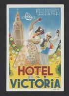 étiquette Valise  -  Hôtel Victoria à Valencia  (Valence)    Espagne - Hotel Labels