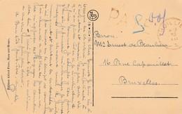PAYE,cachet Thuillies , Datée Du 10-11-16, Vers Bruxelles,( Ham Sur Heure ,chateau Des Quatres Chemins ) - Poststempels/ Marcofilie