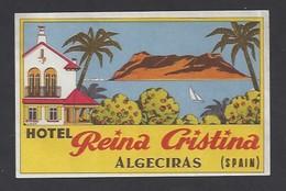 étiquette Valise  -  Hôtel Reina Cristina à  Algéciras    Espagne - Hotel Labels