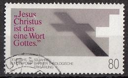 Germania 1984 Sc. 1419 Barmer Theological Declaration 5oth Anniv. Viaggiato Used Bundespost Germany - Teologi