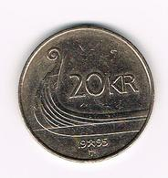 &  NOORWEGEN  20 KRONER 1995 - Norvège