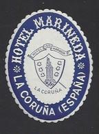 étiquette Valise  -  Hôtel Marineda à La Coruna  (La Corogne)   Espagne - Hotel Labels