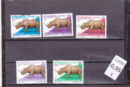 Etiopía  -  Lote  5  Sellos Diferentes Fauna  -  4/4236 - Etiopía