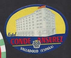 étiquette Valise  -  Hôtel Ansurez  à Velladolid    Espagne - Hotel Labels