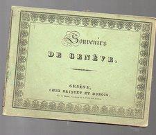 Genève (Suisse) Carnet Recueil De 22 Petits Lithographies SOUVENIR DE GENEVE (PPP8499) - Old Books