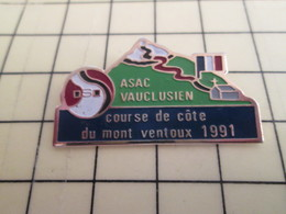 Pin910e Pin's Pins / Beau Et Rare : AUTOMOBILE : ASAC VAUCLUSE COURSE DE COTE DU MONT VENTOUX 1991 - Rallye