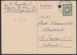 SBZ 57 OPD Sachsen 5 Pf Ortskarte Dresden Bad Weisser Hirsch, Portogenau - Zone Soviétique