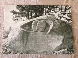 Lithuania Anyksciai Puntukas Boulder Monument 1965 - Monuments