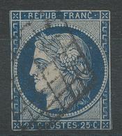 Lot N°42045  Variété/n°4, Oblit Grille De 1849, Anneau De Lune Dérierre La Tête - 1849-1850 Ceres