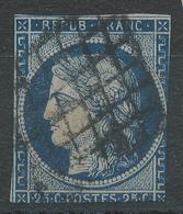 Lot N°42050  N°4, Oblit Grille De 1849 - 1849-1850 Ceres