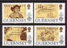 GUERNSEY - 1992 EUROPA COLUMBUS SET (4V) SG 556-559 FINE MNH ** - Christopher Columbus