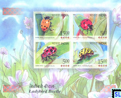 India Stamps 2017, Ladybird, Beetles, MS - India