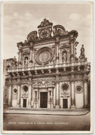 LECCE - Basilica Di S. Croce (monumento Nazionale) FG Viaggiata 1941 - Lecce