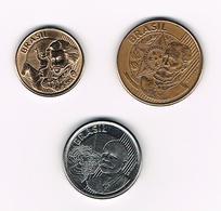 &   BRAZILIE  10 + 25 + 50  CENTAVOS  2004/2007 - Brésil