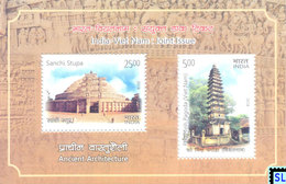 India Stamps 2018, Vietnam Joint Issue, MS - India