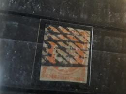 CERES Non Dentelee  No 5 A, 40 C Orange Vif Obl GRILLE SANS FIN , Bien Marge BTB Cote 650 E - 1849-1850 Ceres