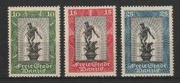 Danzig / Internationale Philatelistische Ausstellung  / MiNr. 217-219 - Abstimmungsgebiete