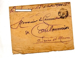 Lettre Franchise Militaire Tresor Et Postes 83 - Marcophilie (Lettres)