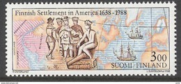 Finland 1988 350th Anniversary Of The First Finnish Settlement In America Mi 1048  MNH(**) - Finnland