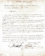 1807 - Les Administrateurs Des CANAUX D'AIGUES-MORTES à BEAUCAIRE à M. LABRETONIERE Fils à CREST - Historische Documenten