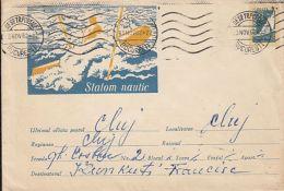 SPORTS, WATER SKIING, SAILING, COVER STATIONERY, ENTIER POSTAL, 1962, ROMANIA - Ski Nautique