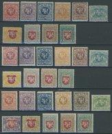 LITAUEN 30-60 **, 1919, 2. - 4. Berliner-Ausgabe, 3 Postfrische Prachtsätze - Litauen