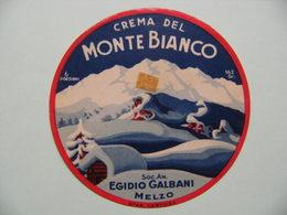 Etiquette Fromage Fondu - MONTE BIANCO - 6 Portions Egidio Galbani à Melzo - Italie  A Voir ! - Cheese