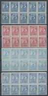 RUMÄNIEN 281/2,284/5 **, 1923/4, 6, 7.50 Und 10 L. König Ferdinand I, Je Im Postfrischen Zehnerblock, Pracht - Rumänien