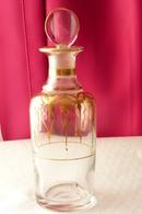 Napoléon III - Flacon à Parfum Verre Soufflé à Frises D'or TBE - Glass & Crystal