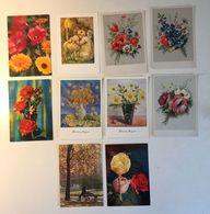 Lotto 10 Cartoline - Fiore Flower Angelo Angel - Cartoline