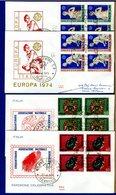 ITALIA - FDC 1974 - QUARTINA - ASSOCIAZIONE BERSAGLIERI - EUROPA - 6. 1946-.. Repubblica