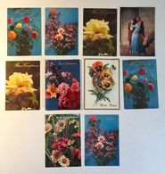 Lotto 10 Cartoline - Fiore  Flower Auguri Buona Pasqua Coppai Innamorati - 5 - 99 Cartoline