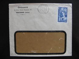 S/L 229 - TB Enveloppe Affranchie Avec N° 388;  De Nanterre  Pour ... ( 15/06/1938) - 1921-1960: Modern Period