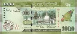 SRI LANKA P. NEW 1000 R 2018 UNC - Sri Lanka