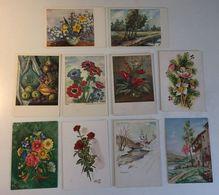 Lotto 10 Cartoline - Artistiche Fiori Arte Pittura Illustratore - Cartoline