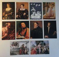 Lotto 10 Cartoncini Formato Cartolina - Artistiche Arte Pittura Santi Saint S. Caterina Etc - Cartoline
