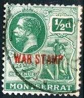 MONTSERRAT, COLONIA BRITANNICA, BRITISH COLONY, RE GIORGIO V, 1917, USATI,  Mi. 52…Scott MR1 - Montserrat