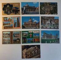 Lotto 10 Cartoline  - Paesaggistiche Italia - Roma Città Del Vaticano Pisa Torino Etc - Cartoline