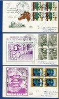 ITALIA - FDC 1973 - VANVITELLI - IDROGRAFICO - AGRICOLTURA - TUTTE VIAGGIATE - TIMBRO RACCOMANDATA E ARRIVO - 6. 1946-.. Repubblica