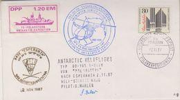 Germany 1987 Antarctica Polarstern To Base Esperanza 2.11.87 Si Pilot (38546) - Voli Polari