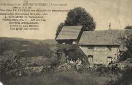Erholungsheim HOHRODBERG ( Munstertal) Von Fritz Friererich RV Cachet Tresor Et Postes 97 - Muenstertal