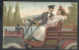+++ CPA - Carte Fantaisie - Couple En Voiture - Auto  Car   // - Fantasie