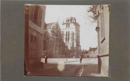 BEAUVAIS(oise) - Eglise Saint étienne (en Travaux), Photo Vers 1900 Format 7,8cm X 9,3cm . - Places
